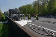LKW-Brand: Feuerwehr wieder auf der A2 im Einsatz