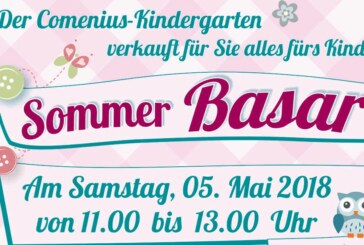 Spielzeug uns Kleidung fürs Kind kaufen: Großer Sommer-Basar im Comenius Kindergarten Rinteln