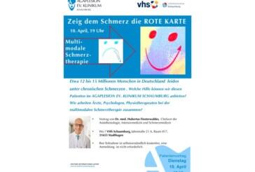 Dem Schmerz die rote Karte zeigen: Vortrag der VHS Schaumburg über Multimodale Schmerztherapie