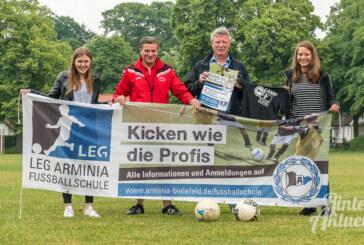 Arminia Bielefeld und SC Rinteln präsentieren Fußballschule am Steinanger