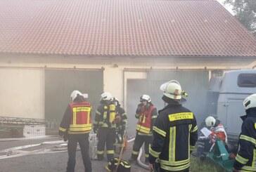Einsatzübung im Pferdestall: Feuerwehren Rinteln, Möllenbeck und Todenmann proben Ernstfall