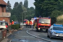 Schaumburg: Zwei Menschen mit Flüssigkeit übergossen und angezündet