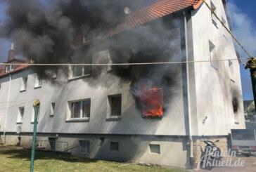 Fünf Verletzte bei Wohnungsbrand in Saarweg