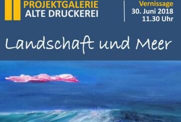 """Landschaft und Meer: Neue Ausstellung in der """"Alten Druckerei"""""""
