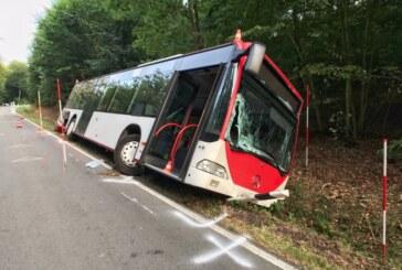 Bus zwischen Wennenkamp und Uchtdorf von Straße abgekommen: Fahrer stirbt an Unfallstelle