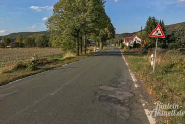 Vollsperrung ab 1. Oktober: Bauarbeiten zwischen Kleinenwieden und Deckbergen