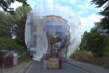 Rinteln: Landung eines Heißluftballons im Wohngebiet