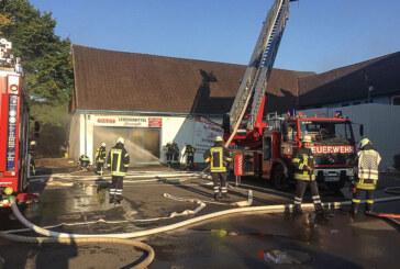 Rinteln: Feuerwehreinsatz in der Bahnhofsallee