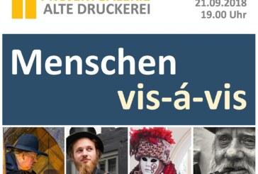 """""""Menschen – vis á vis"""": Neue Ausstellung in der """"Alten Druckerei"""" eröffnet am Freitag"""