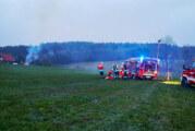 Brand in Scheune: Feuerwehren üben den Ernstfall in Wennenkamp