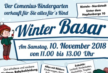 Winter-Basar im Comenius-Kindergarten: Nummernvergabe am 23.10.
