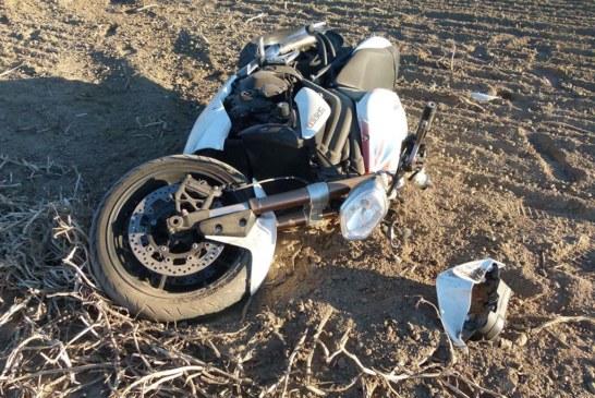 Motorradfahrer mehrfach überschlagen