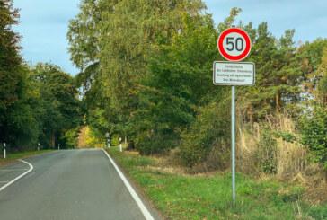 Sperrung der Kreisstraße 80 zwischen Möllenbeck und Krankenhagen