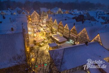 Rintelner Adventszauber 2018: Der Weihnachtsmarkt vom 30.11. bis 30.12.