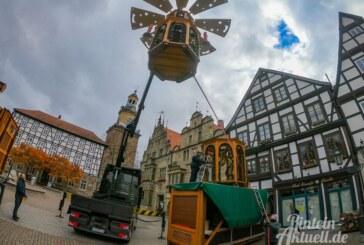 Zum 10-jährigen Jubiläum: Rintelner Weihnachtspyramide erstrahlt in neuem Glanz