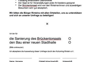 Kulturring startet Umfrage: Sanierung des Brückentorsaals oder Neubau einer Stadthalle?