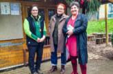 Anja Piel zu Besuch im Waldkindergarten Rinteln