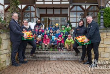 Waldkater sponsert Obst für Rintelner Waldkindergärten