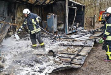 Steinbergen: Feuerwehr zu Nachlöscharbeiten am Steinzeichen