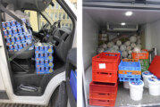 Angeschnallter Joghurt, aufgetautes Fleisch: Polizei stoppt kuriosen Lebensmitteltransport auf A2