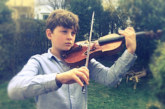 Barockmusik und Balladen: Großvater und Enkel musizieren im Kloster