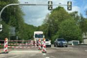 Reparatur an der Steinberger Kreuzung