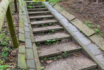 Neue Treppe von Süd-Contrescarpe zum Fockenkump