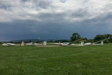 Runde 9 der Segelflug-Bundesliga: Luftsportverein punktet im kleinen Wetterfenster