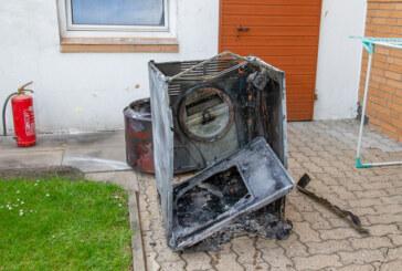 Trockner verursacht Kellerbrand