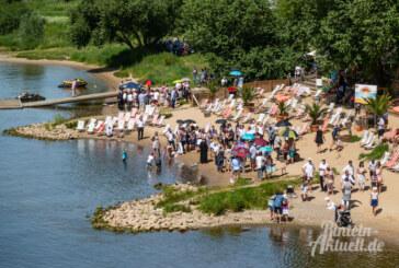 Rinteln: Tauffest an der Weser bei Gluthitze