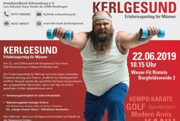 Kerlgesund: Erlebnissporttag für Männer im Weser-Fit-Rinteln