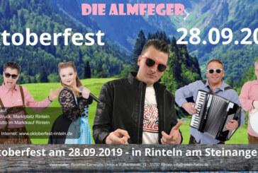 Oktoberfest des RCV in Rinteln: Wies´n-Feeling im Festzelt am Steinanger