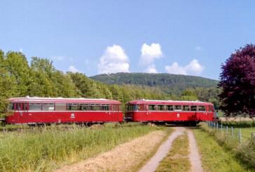Gemütliche Ausflugsfahrt auf der Schiene durch die sommerliche Region