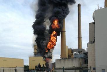 Veltheim: Feuer im stillgelegten Kraftwerk ausgebrochen