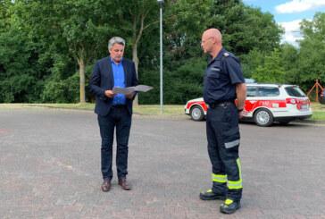 Ortsbrandmeister Thomas Blaue tritt weitere Amtszeit an