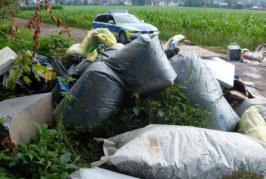 Baumaterial illegal am Straßenrand entsorgt