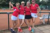 Damen 50 vom Tennisverein Rot-Weiss Rinteln steigen auf: Letztes Spiel fand bei Hitzerekord statt
