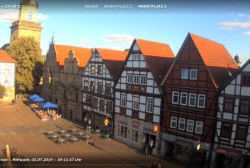 Marktplatz-Webcam und Rinteln-WLAN wieder in Betrieb