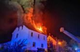 Steinbergen: Nächtlicher Feuerwehreinsatz bei Dachstuhlbrand