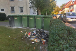 Schon wieder ein Feuerwehreinsatz wegen Müllbrand in Rintelner Nordstadt