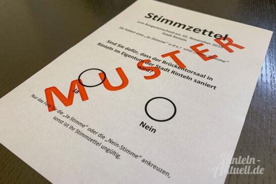 Brückentor-Bürgerentscheid am 10.11.2019: Abstimmung ab sofort im Bürgerbüro möglich