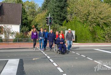 Neelhofsiedlung: Neue Bedarfsampel an der Berliner Straße in Betrieb genommen