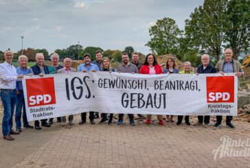 SPD-Stadtratsfraktion und Kreistagsmitglieder besuchen IGS-Baustelle