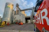 Brand in Mais-Silo: Feuerwehreinsatz im Industriegebiet Süd