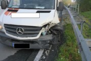 Sprinter-Fahrer bei Unfall auf A2 schwer verletzt