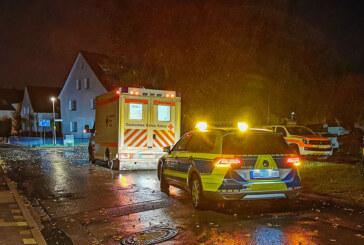 Abendlicher Einsatz für Rettungssanitäter, Polizei und Feuerwehr
