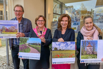 Bildkalender der Volksbank in Schaumburg zeigt blühende Landschaften der Region