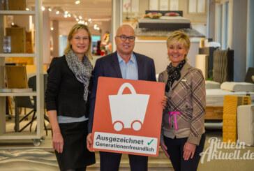 Betten Maack erneut mit Qualitätszeichen für generationenfreundliches Einkaufen ausgezeichnet