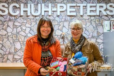 Weihnachten im Schuhkarton: Päckchen bis 15. November bei Schuh Peters abgeben