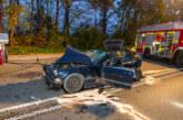 Vier Verletzte bei schwerem Verkehrsunfall auf Bundesstraße 482